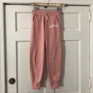 OLD NAVY Pink Drawstring Waist Sweatpants L/10-12